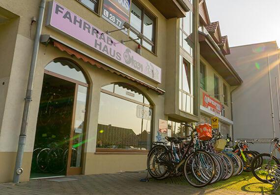 Fahrradhaus Steen Hausansicht Ladengeschäft in Falkensee