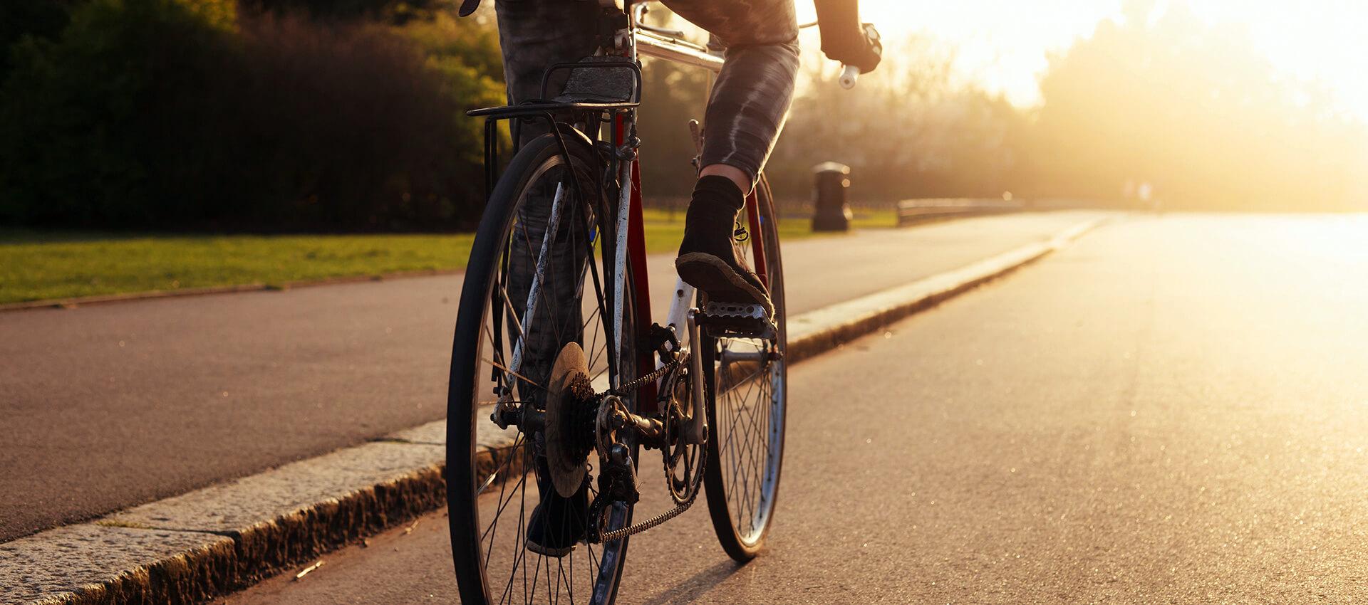Fahrradfahren zu jeder Jahreszeit mit Freude